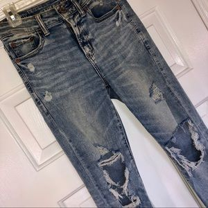distressed american eagle highwaisted jeans